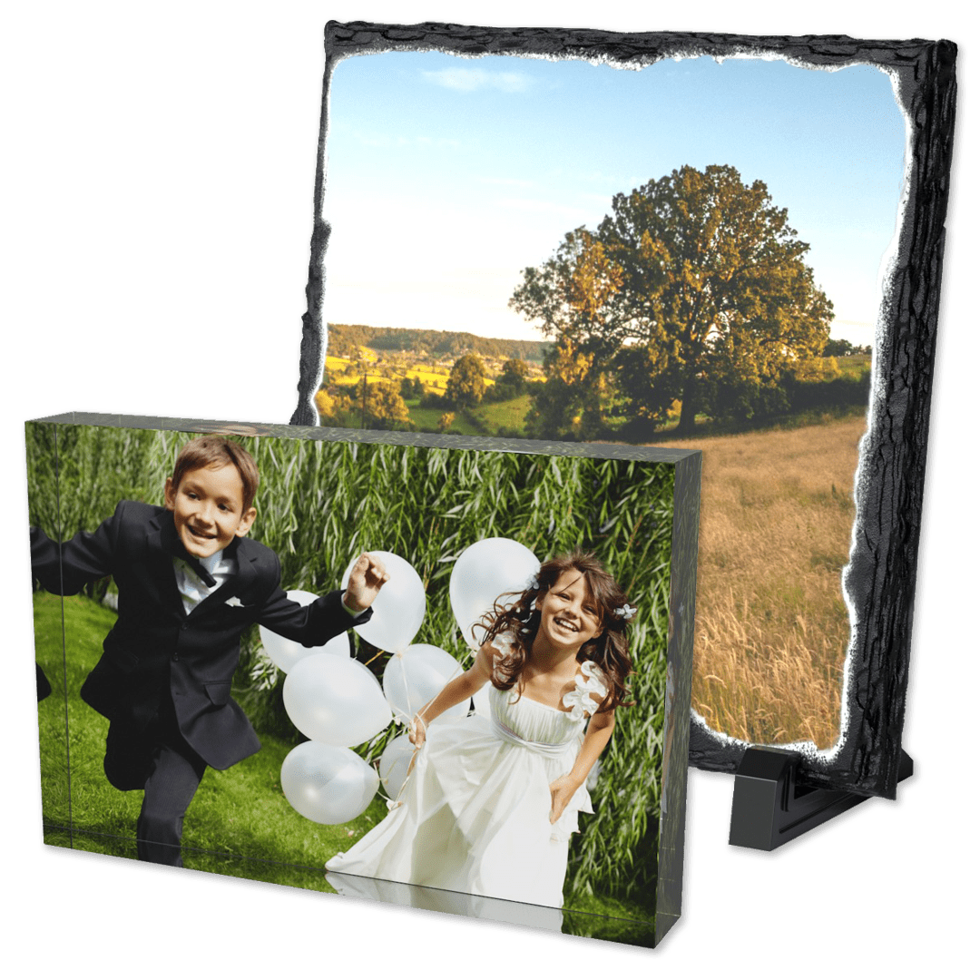 Photo blocks and personalised curved acrylic