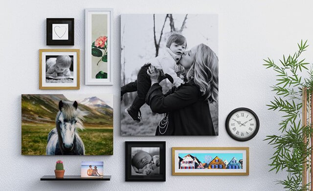 Photo wall art - frames and panels