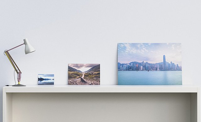 9x6, 18x12 & 36x24 prints on desk