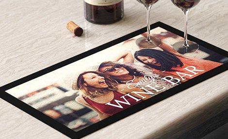 Customised bar mat