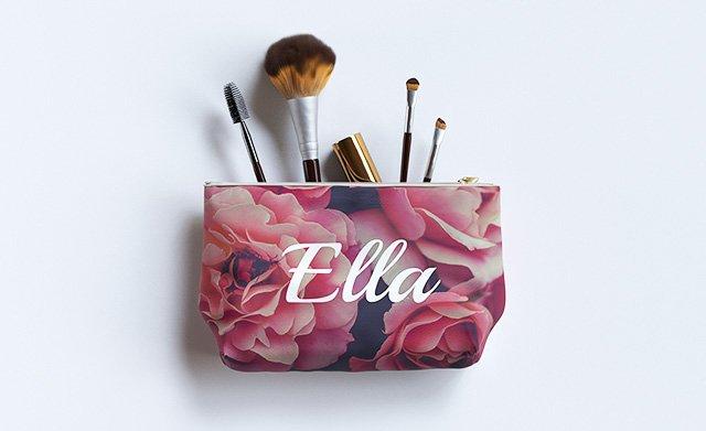 Customised make up/wash bags