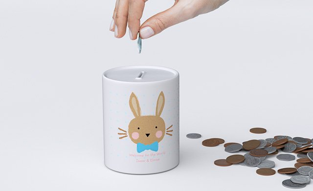 Photo on Money Box for kids