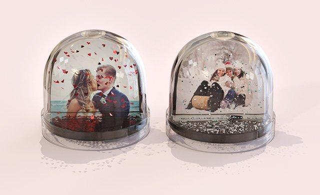 Photo glitter domes