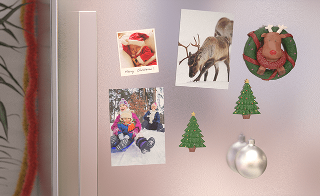 Photo Magnets on fridge