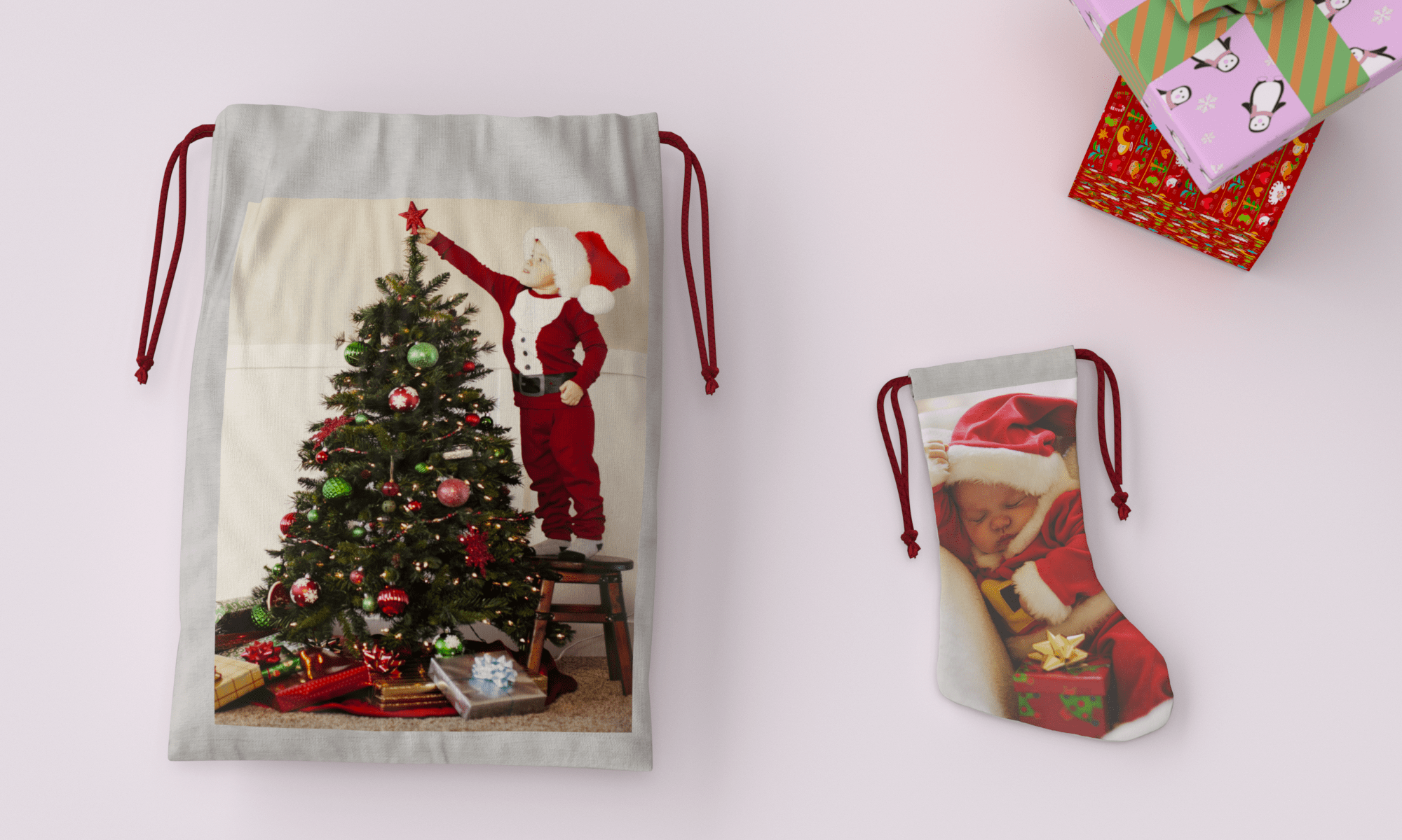 Personalised Christmas Sack & Stocking