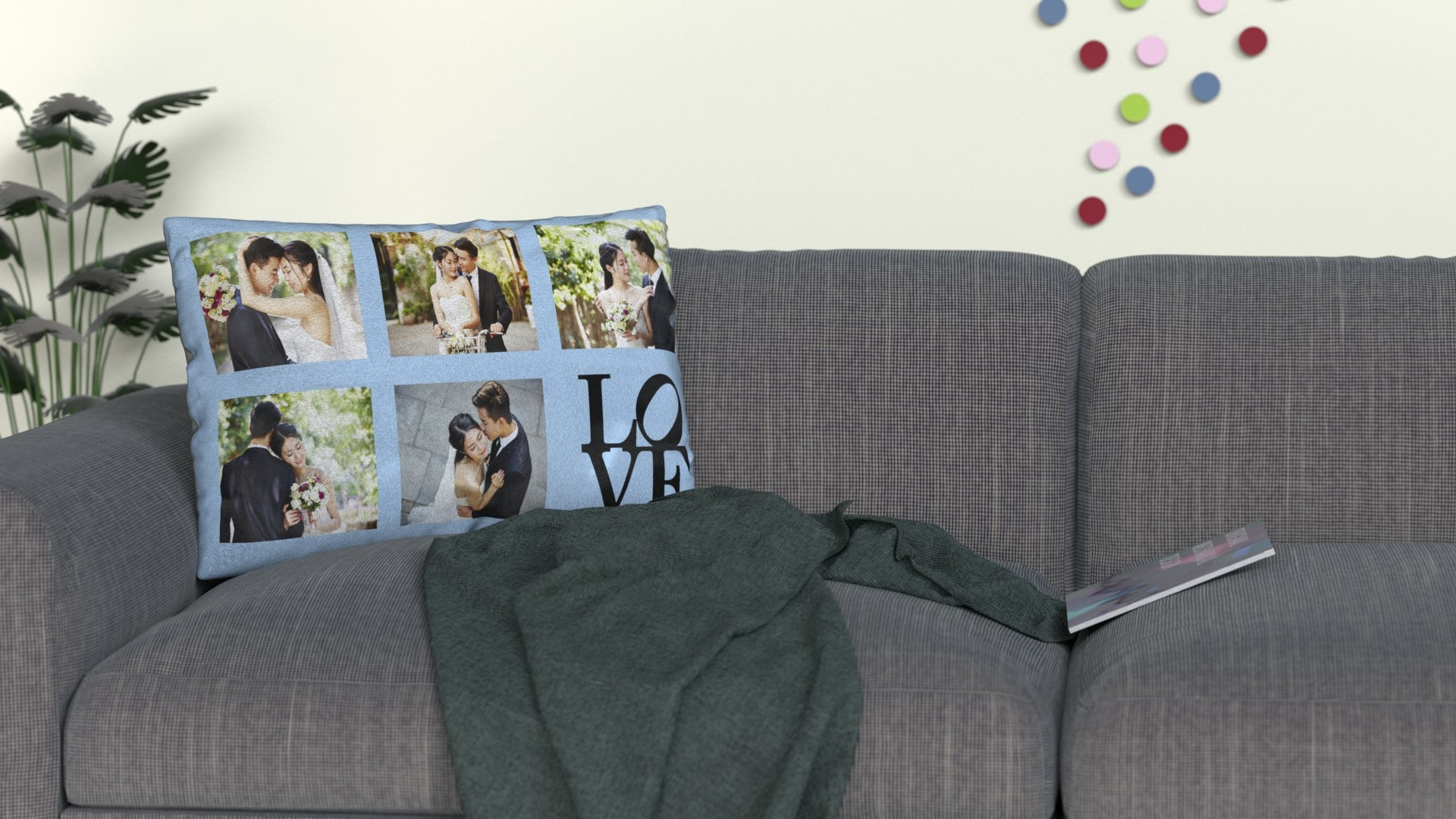 Photo Cushions with love designs