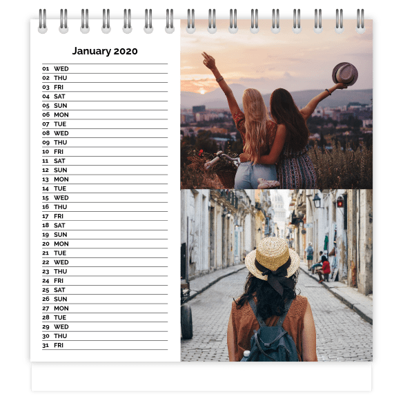 Personalised Desktop Calendars