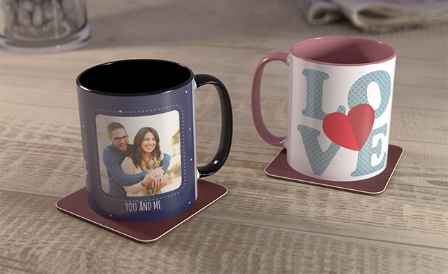 Two Coloured Mugs for £16