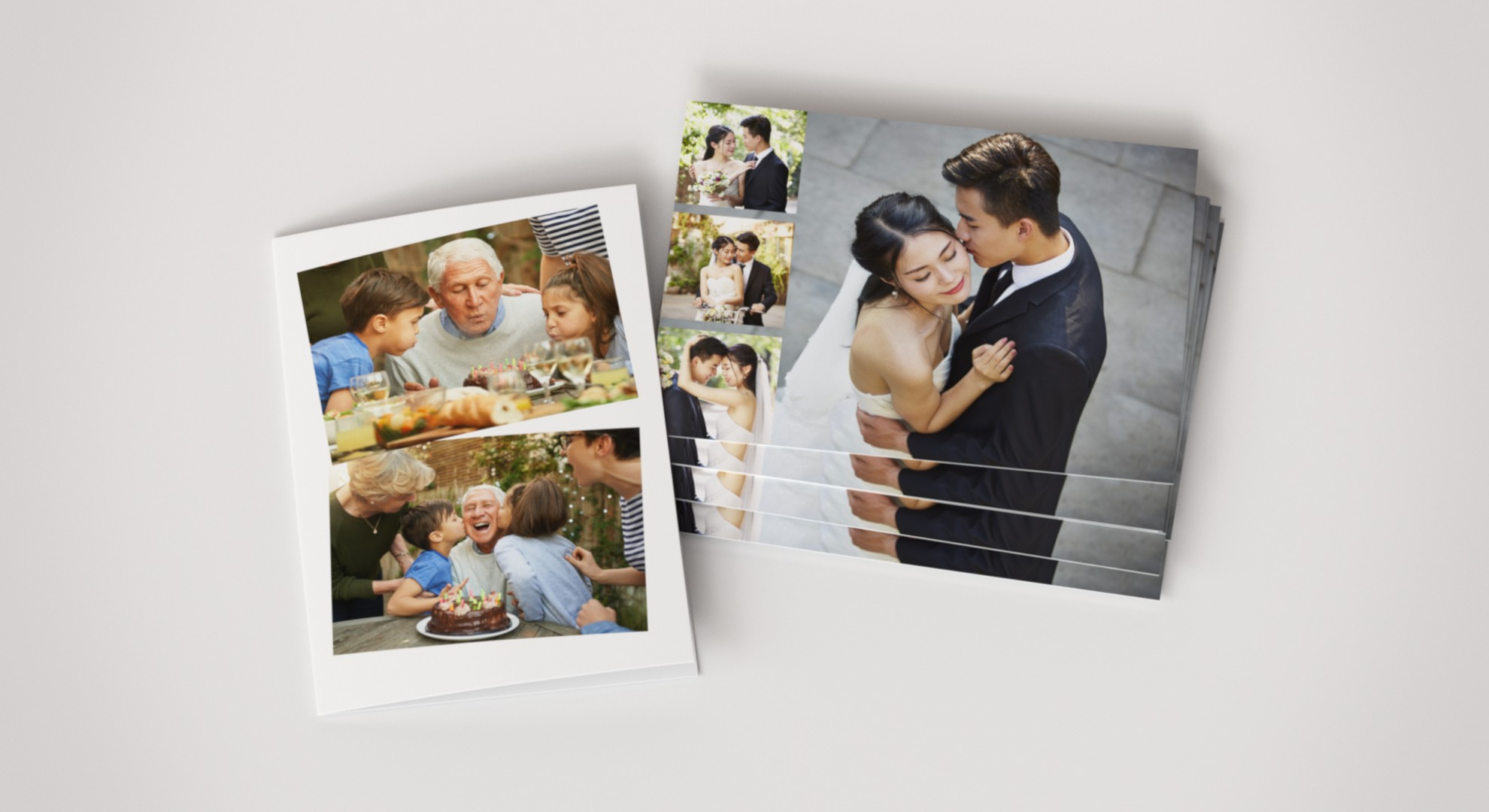 Mixed collage photo cards