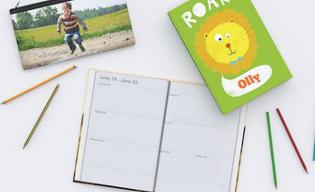 Photo notebook, diary & pencil case