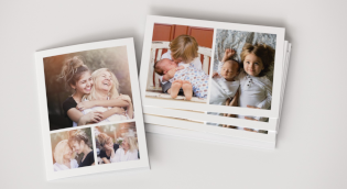 Bordered collage photo cards