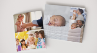 Borderless collage photo cards