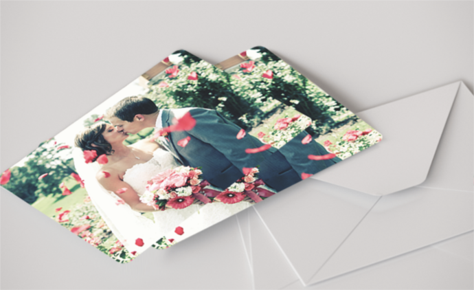 Flat Photo Cards, pack of 20 with round corners