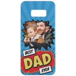 Thumbnail for Personalised Phone Case Samsung S8 with Best Dad Ever Explosion design 1