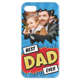 Thumbnail for Personalised iPhone 7 Case with Best Dad Ever Explosion design 1