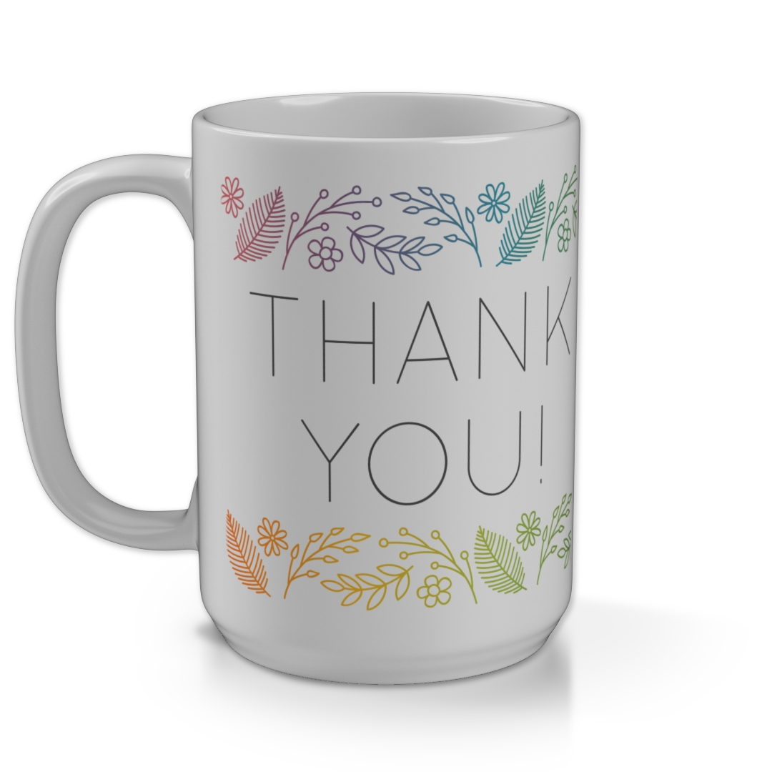 764c6c799dc 15oz Mega Mug - Leaves Gradient Thank You   Personalised Photo Mug ...