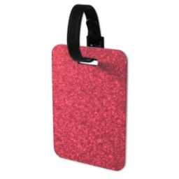 Thumbnail for Faux Leather Pink Glitter Luggage Tag with Full Photo design 3