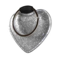 Thumbnail for Faux Leather Silver Glitter Heart Keyring with Full Photo design 3