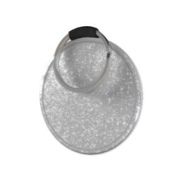Thumbnail for Silver Glitter Round Custom Keyring with Full Photo design 3